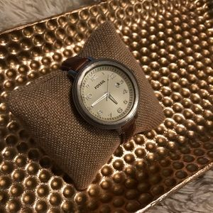 Jewelry - Fossil watch leather strap